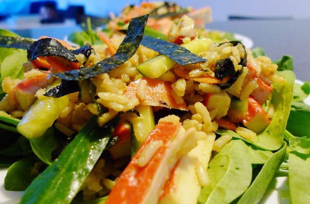 Sałata jak sushi – chirashi