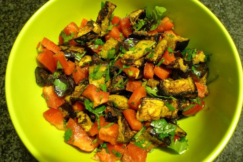 Pieczony bakłażan w curry