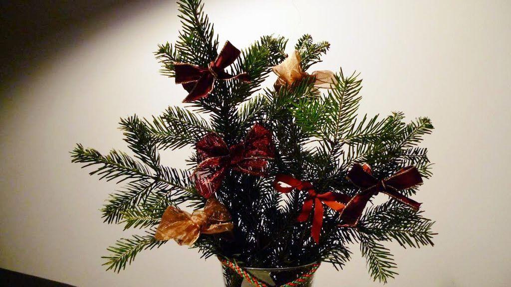 Boże Narodzenie: stroik do wazonu
