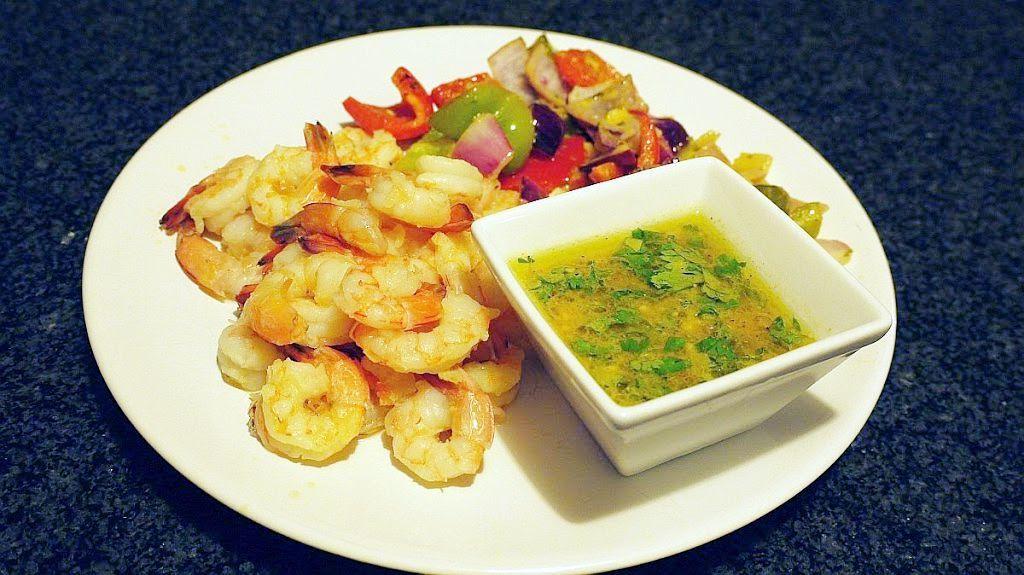 Grillowane krewetki ze słodko-pikantnym sosem
