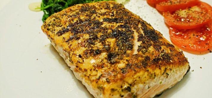 grillowany losos