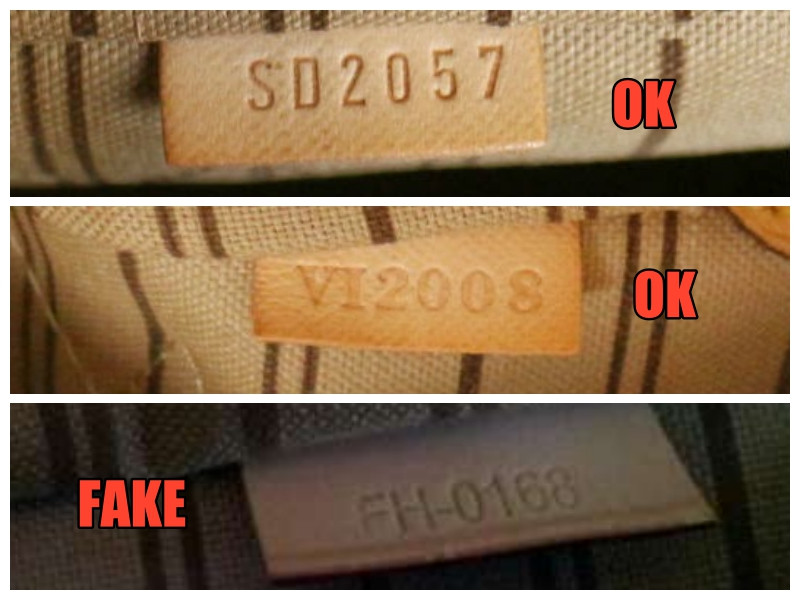 Jak rozpoznac podrobke Neverfull Louis Vuitton numery seryjne