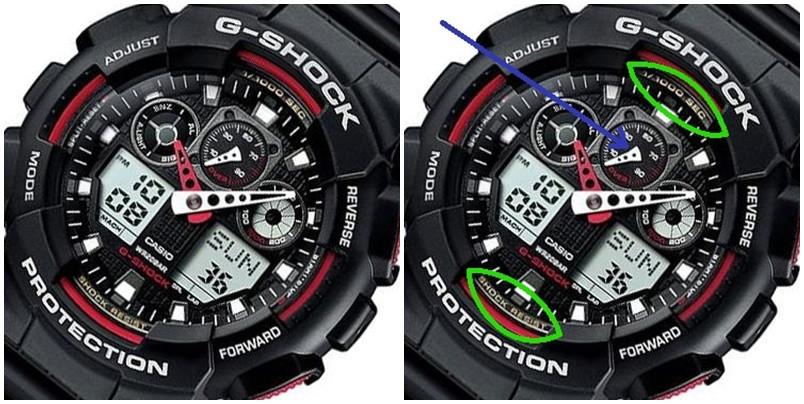 Casio G-Shock Ga-100 detale