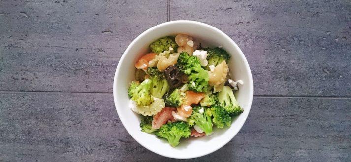 makaron z brokulami