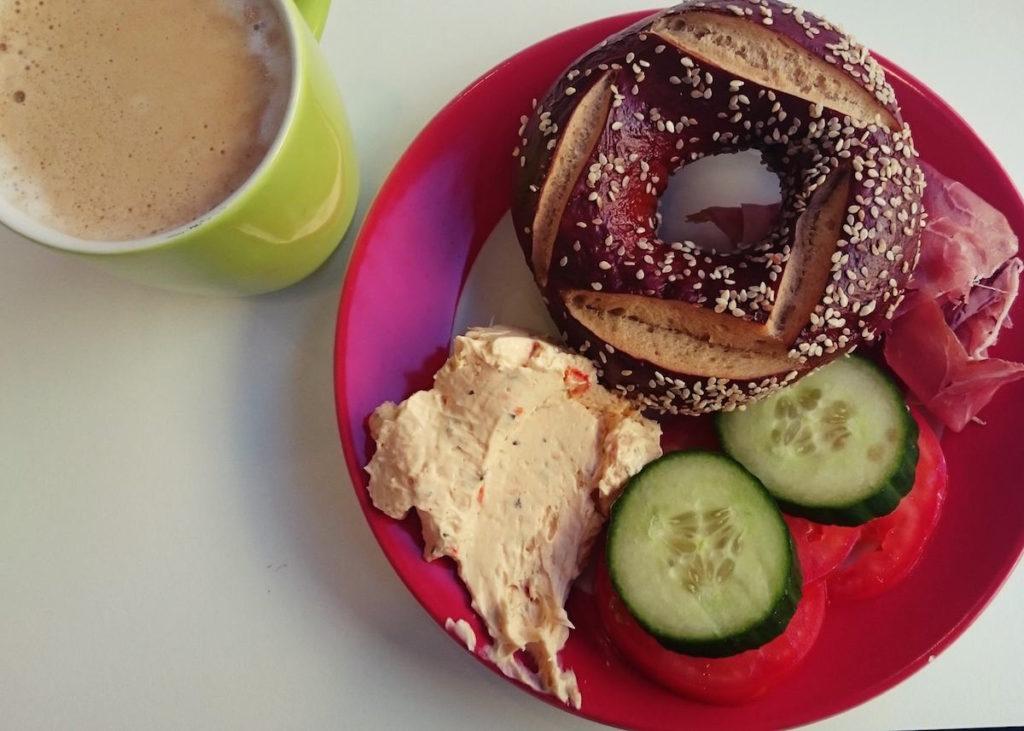 śniadanie jeszcze w Berlinie