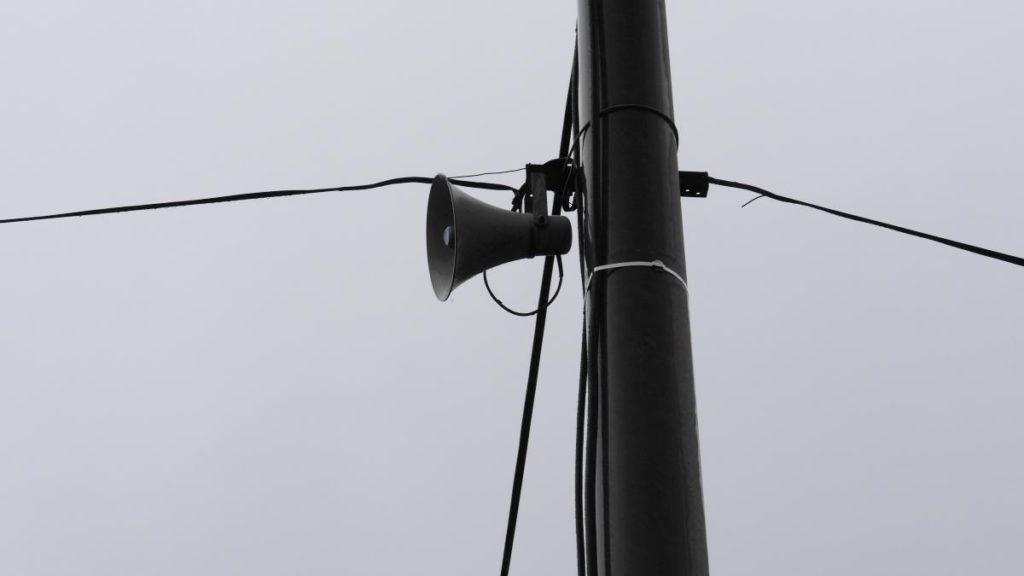 Głośniki w słowackim miasteczku