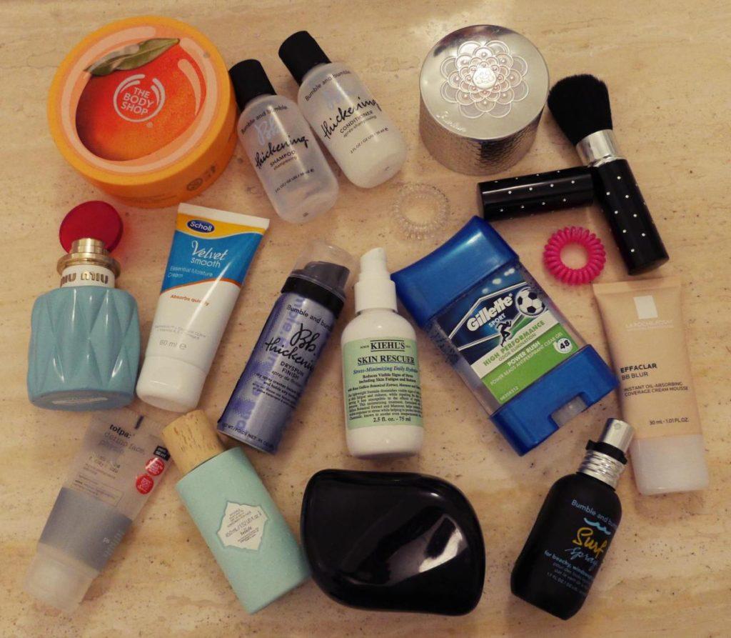 kosmetyki na wyjazd