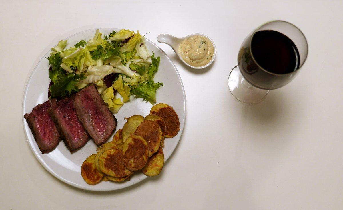 Wołowina z sałatą