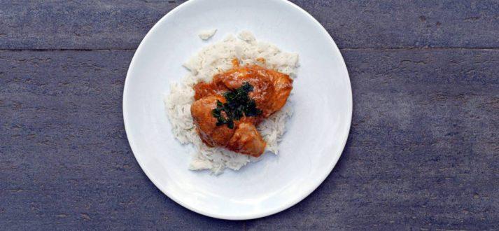 kurczak w sosie orzechowym