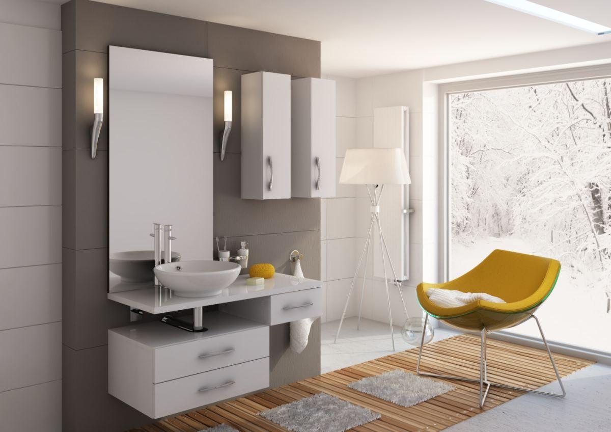Inspiracje – kolor w łazience
