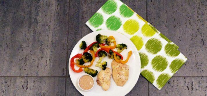 piers z kurczaka z warzywamii