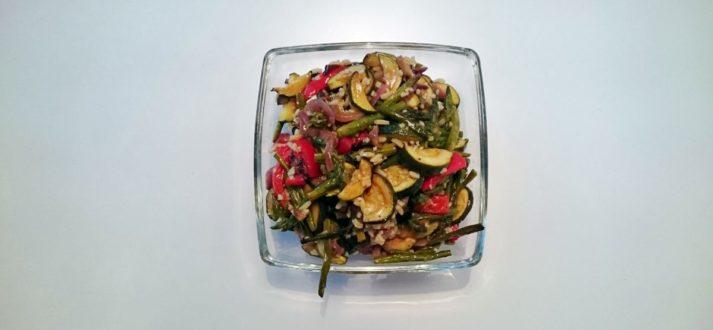 salatka z pieczonych warzyw
