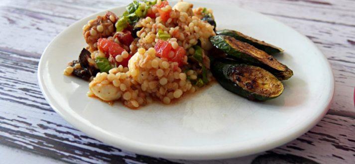 salatka z cukinia z grilla