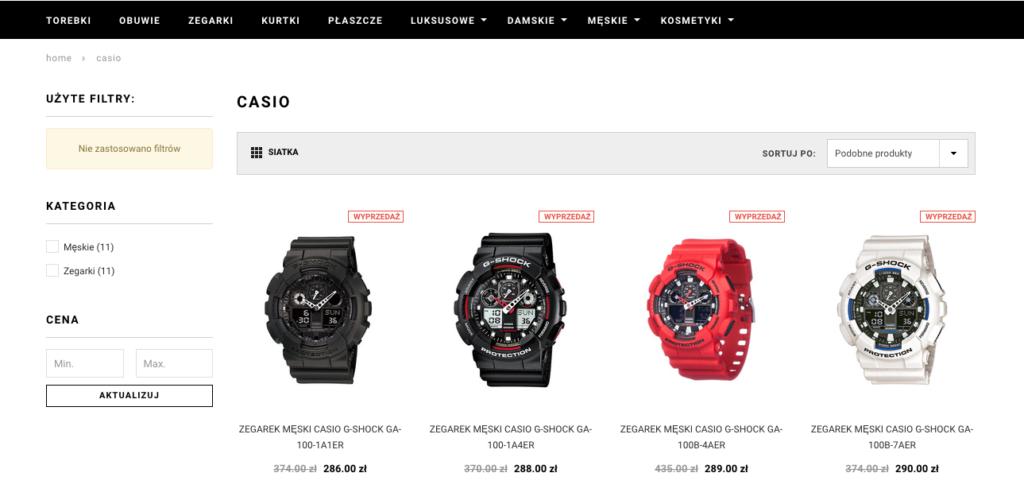 internetowy sklep podrobki screen casio