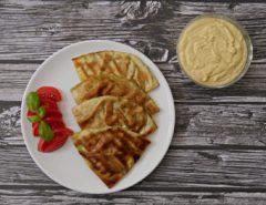 pita ze szpinakiem i serem
