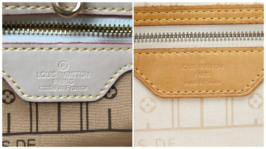 Czy to podróbka: torebka Louis Vuitton Neverfull Damier Azur
