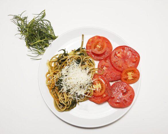 makaron z solanka spaghetti z agretti