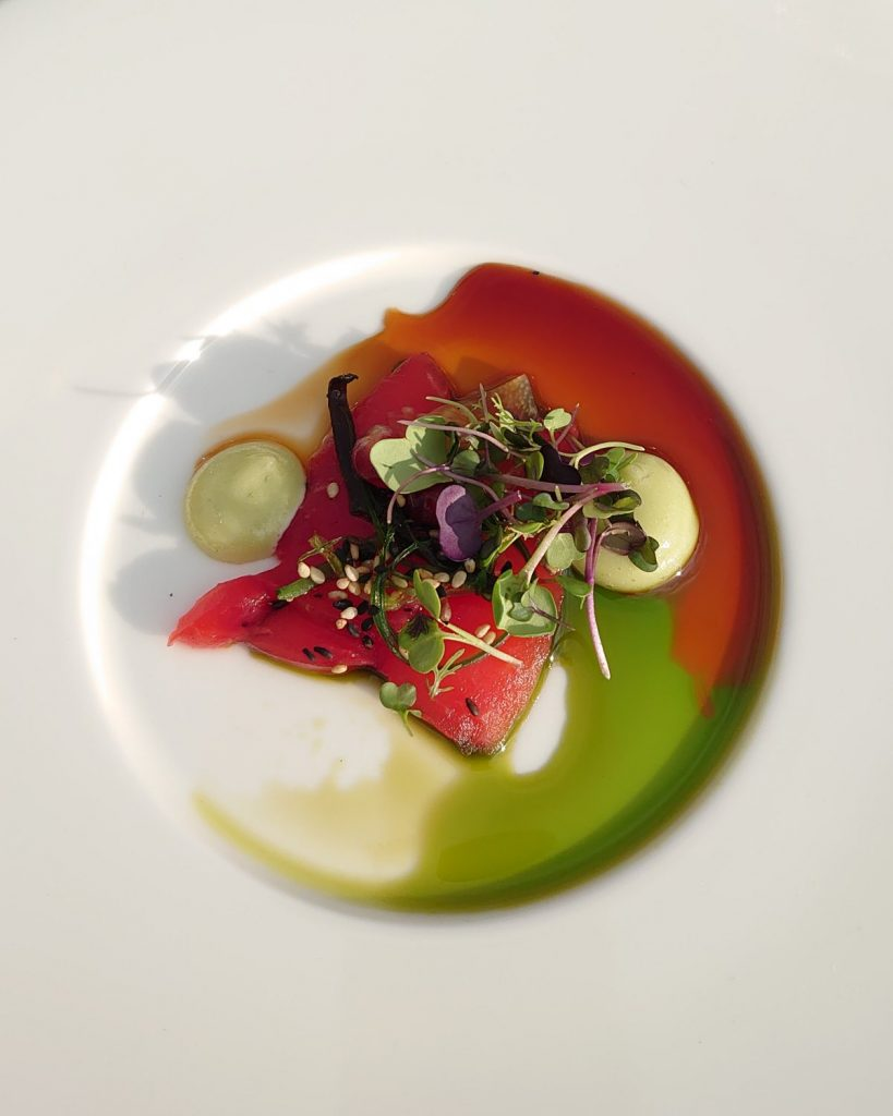 neon bistro popup sashimi